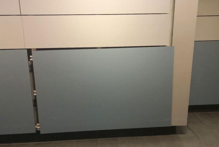 W-wa Lotnisko Chopina: PKP PLK po miesiącach naprawią okładziny ścian