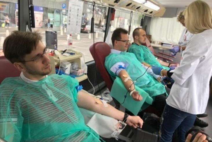 """Podsumowanie zbiórki krwi """"Kolej na Ciebie – uratuj życie!"""""""