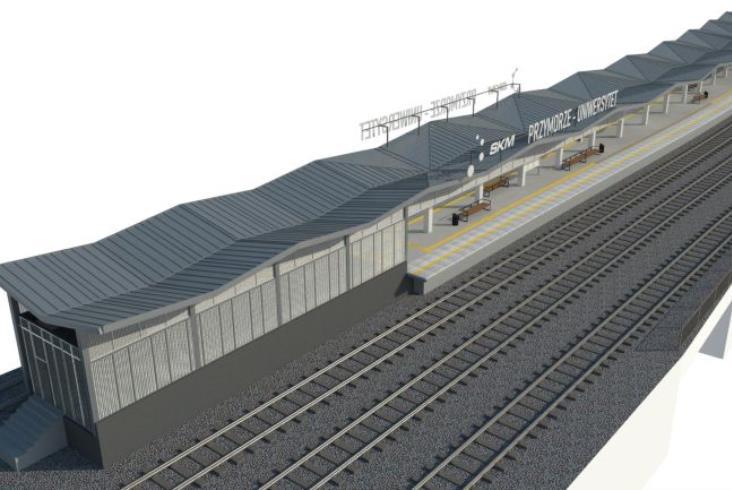 SKM Trójmiasto modernizuje kolejne przystanki. Gdańsk Przymorze - Uniwersytet do powtórki