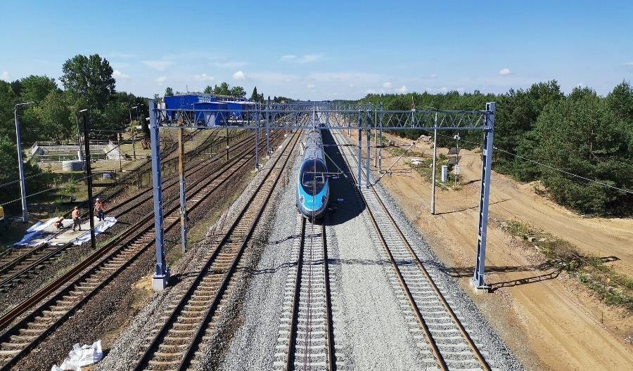 Trwają prace na stacji Idzikowice na CMK
