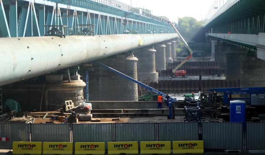 PLK: Kończą się prace przy Moście Gdańskim w Warszawie