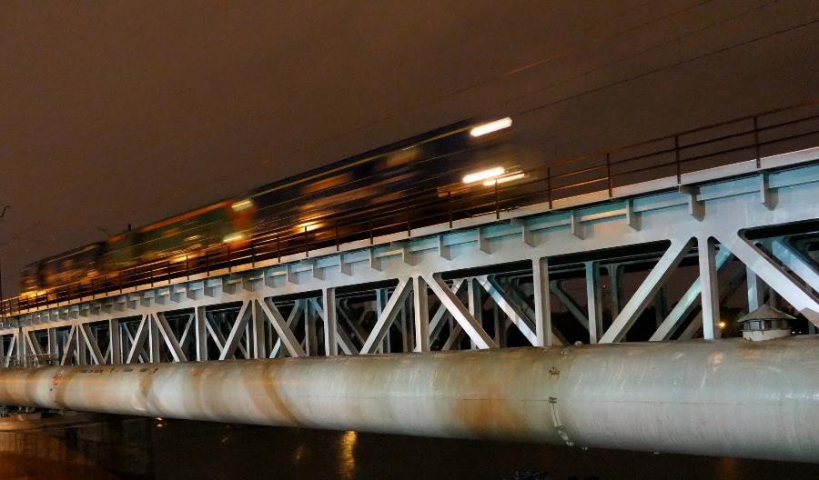 Lokomotywy sprawdziły kolejowy Most Gdański [zdjęcia]