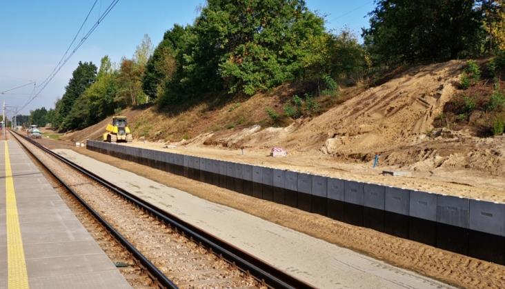 Łódź: Trwa budowa mijanki na Marysinie. Wyłączony ruch kolejowy