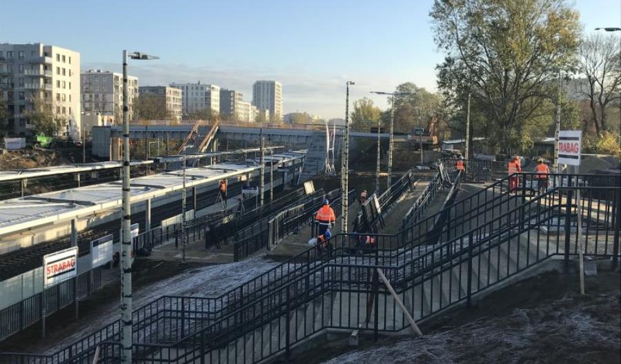 Przystanek kolejowy Warszawa Powązki od 1 listopada. Zakończenie prac w I kwartale 2020 r.