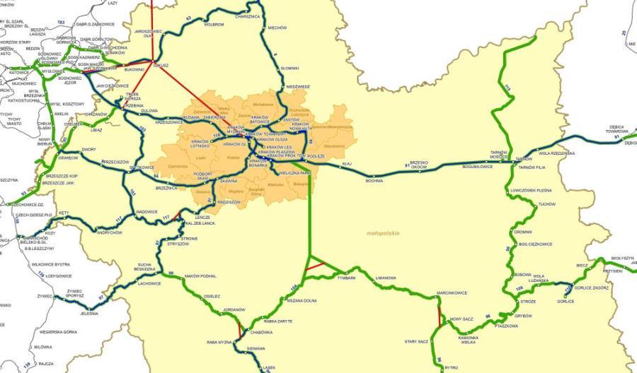 Pięć firm chce opracować wstępne studium nowych linii kolejowych w Małopolsce [oferty]