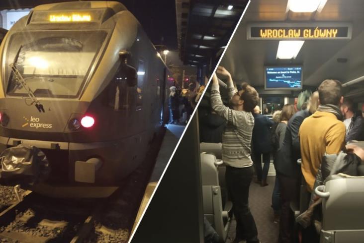 Chętnych na podróż z Leo Expressem do Pragi więcej niż miejsc. Musi odwołać kurs komercyjny [zdjęcia]