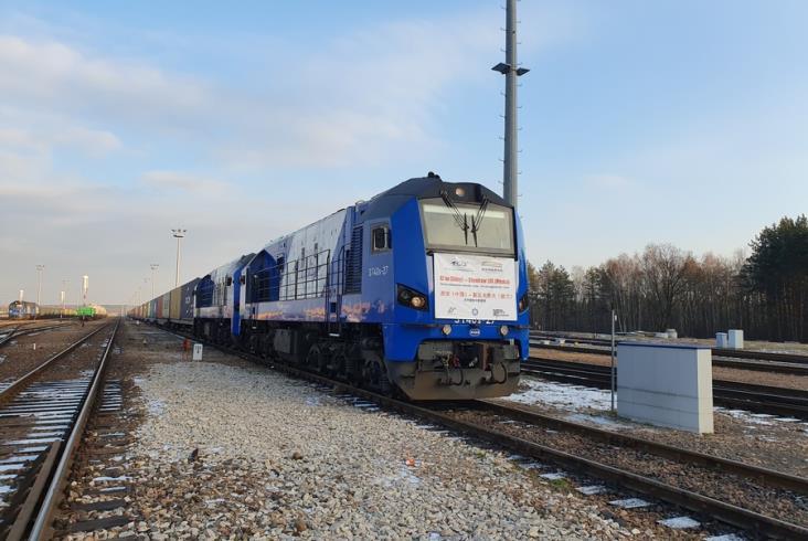 Kontenerowy pociąg z Chin dotarł do Euroterminala w Sławkowie [zdjęcia]