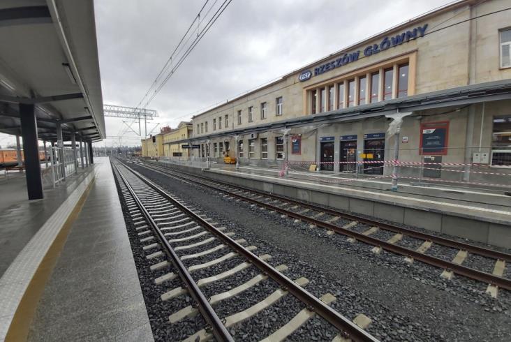 Dwa nowe perony w Rzeszowie Głównym już gotowe