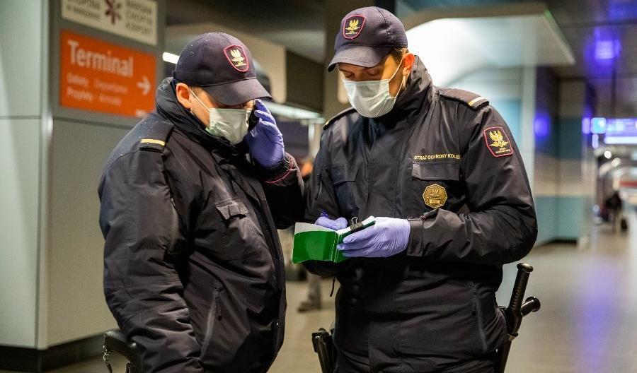 Straż Ochrony Kolei na pierwszej linii frontu walki z koronawirusem