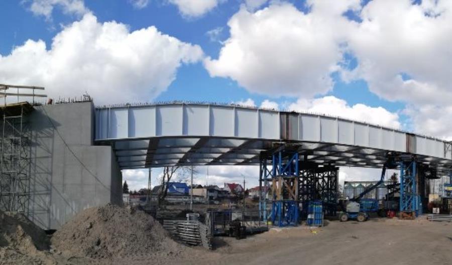 Trwa budowa wiaduktu nad torami w Sokółce