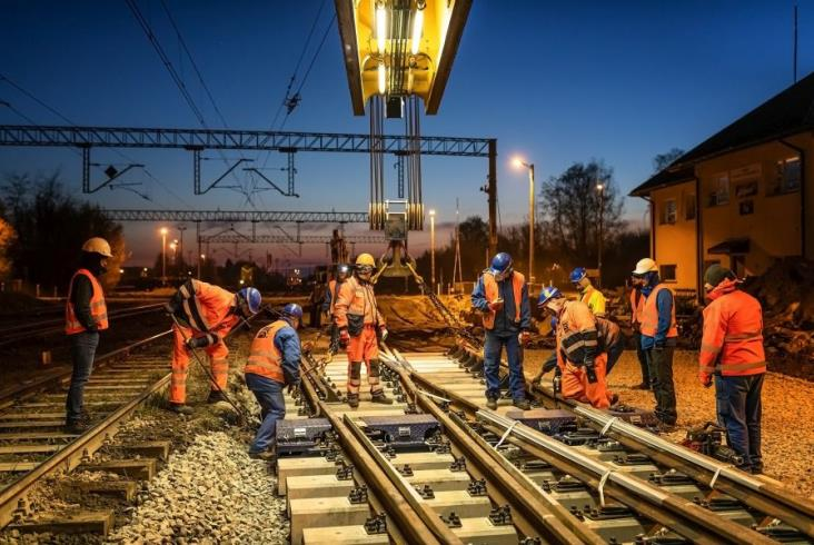 Nowoczesne rozjazdy krzyżowe na Łódzkim Węźle Kolejowym