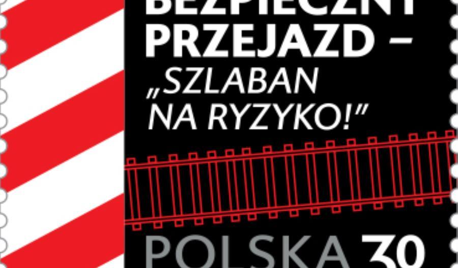 Na 5 milionach znaczków pocztowych bezpieczeństwo na przejazdach kolejowych