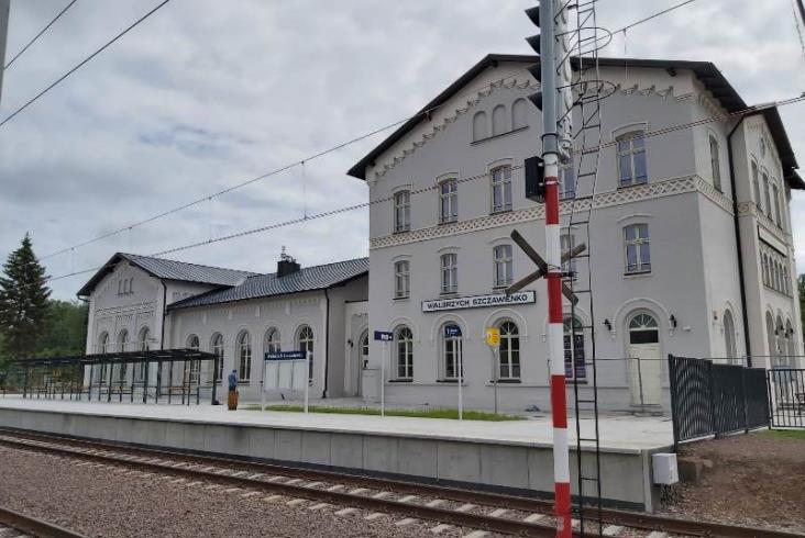 Przystanek Wałbrzych Centrum o rok później