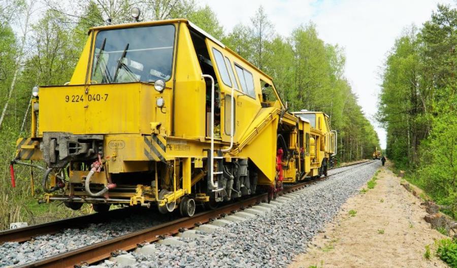 PKP PLK kontynuuje prace na szerokotorowej linii 59 na Podlasiu [zdjęcia]