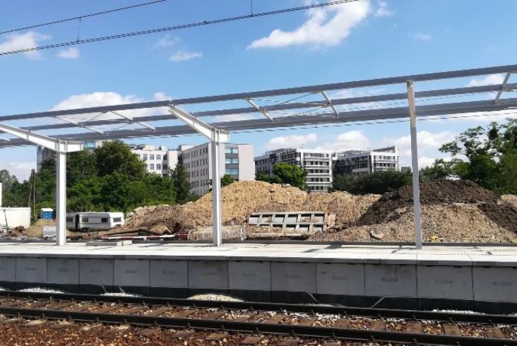 Nowy przystanek Wrocław Muchobór w budowie [zdjęcia]