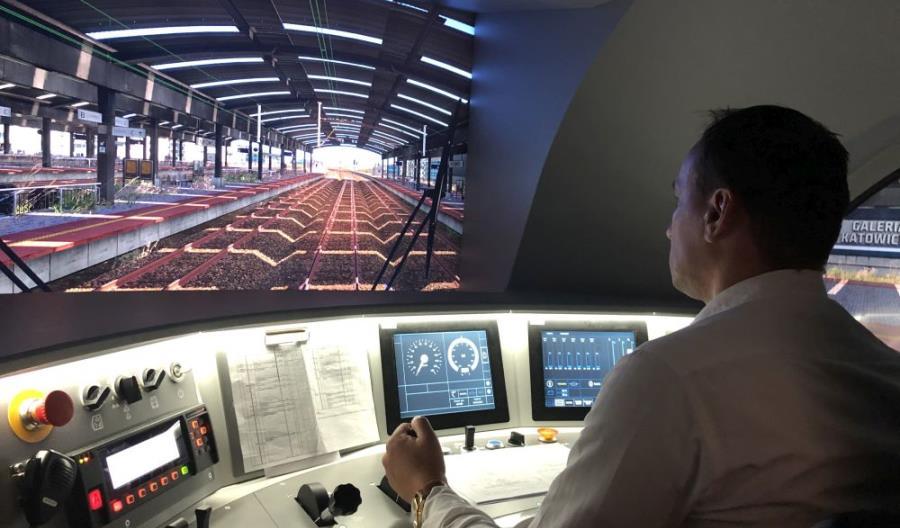 Nowy symulator lokomotywy Dragon 2 w Katowicach