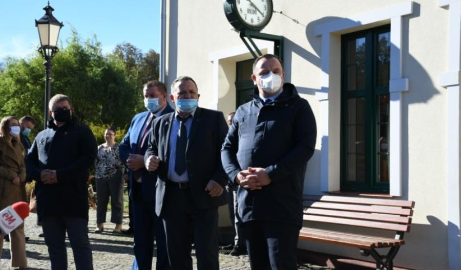 Stacja wąskotorówki w Rudach nabrała blasku