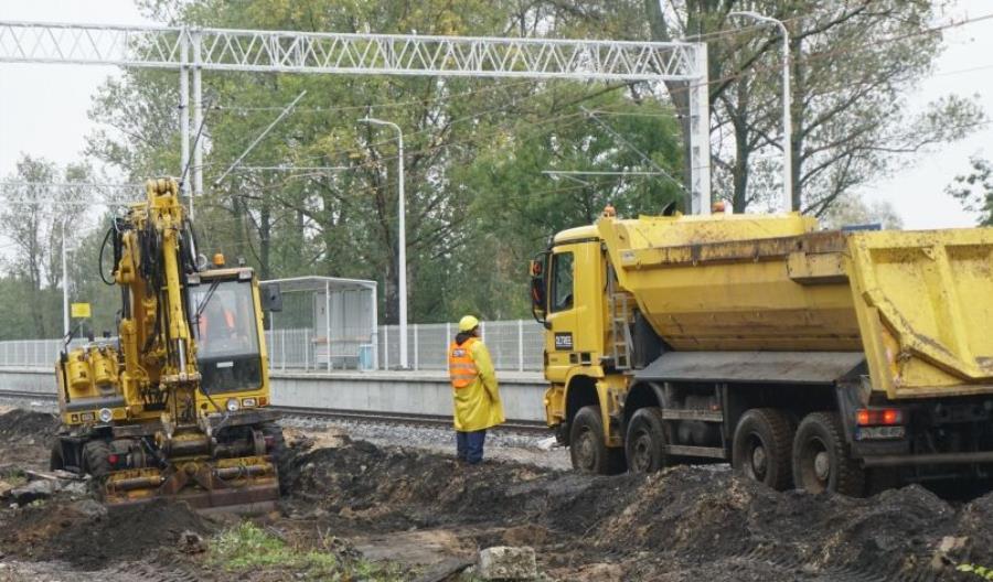 Trwają prace na linii nr 14. Nowy peron na stacji Łódź Lublinek