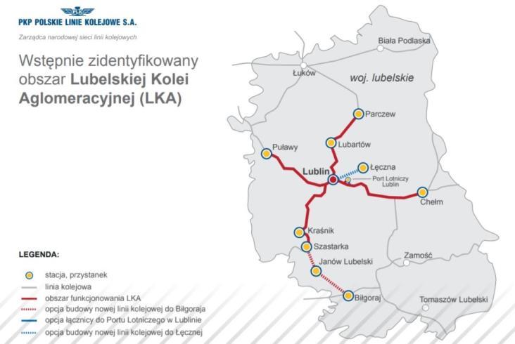 PLK wybrała wykonawcę koncepcji Lubelskiej Kolei Aglomeracyjnej