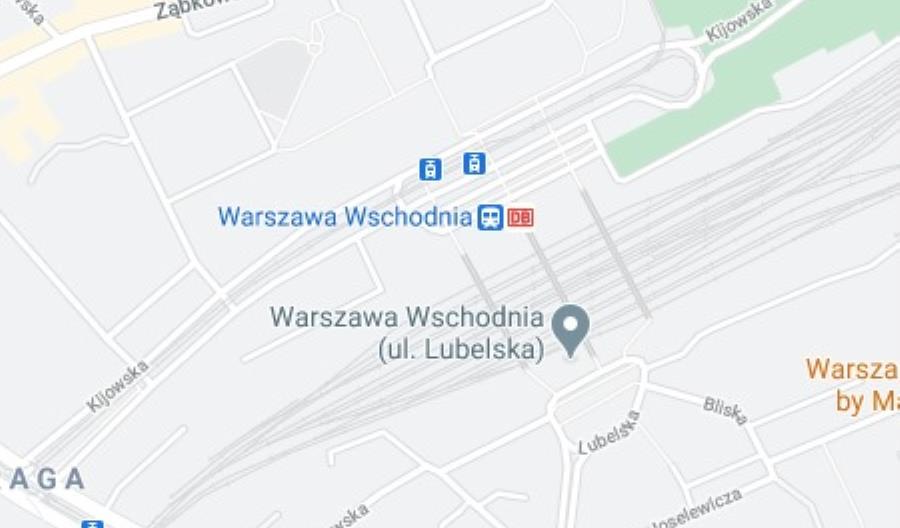Logo DB na polskich stacjach kolejowych. Google: To błąd