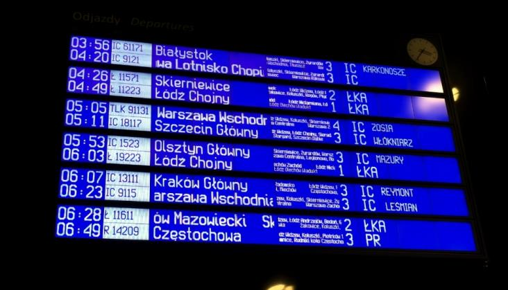 Łódź – Warszawa: Weekendowe utrudnienia. Naprawa sieci trakcyjnej