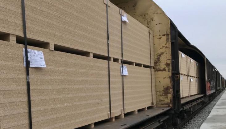 Pierwszy pociąg z produktami wyjechał z bocznicy fabrycznej w Biskupcu
