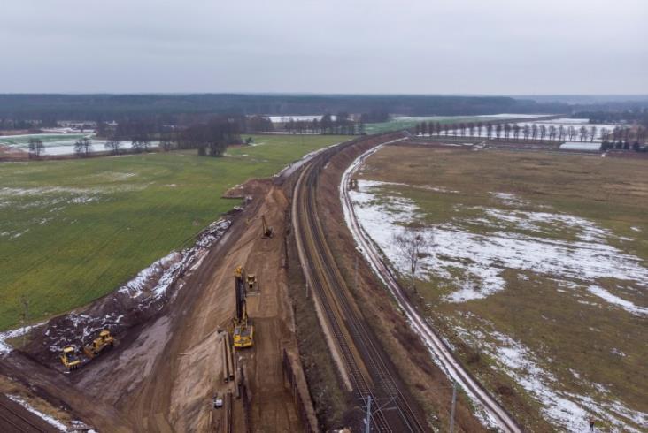 Powstaje kolejowy bajpas magistrali E59 Poznań – Szczecin [zdjęcia]