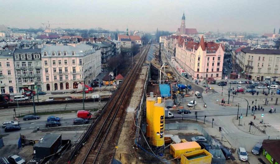 Trwają prace na przebudowie magistrali przecinającej Kraków [zdjęcia]