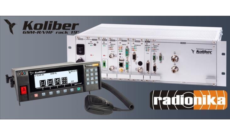 """Radionika: Radiotelefon pociągowy Koliber GSM-R/VHF rack 19"""" dopuszczony do stosowania w Czechach"""