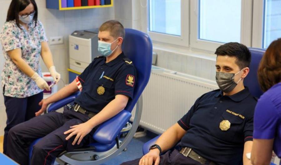 Funkcjonariusze SOK oddali osocze i krew