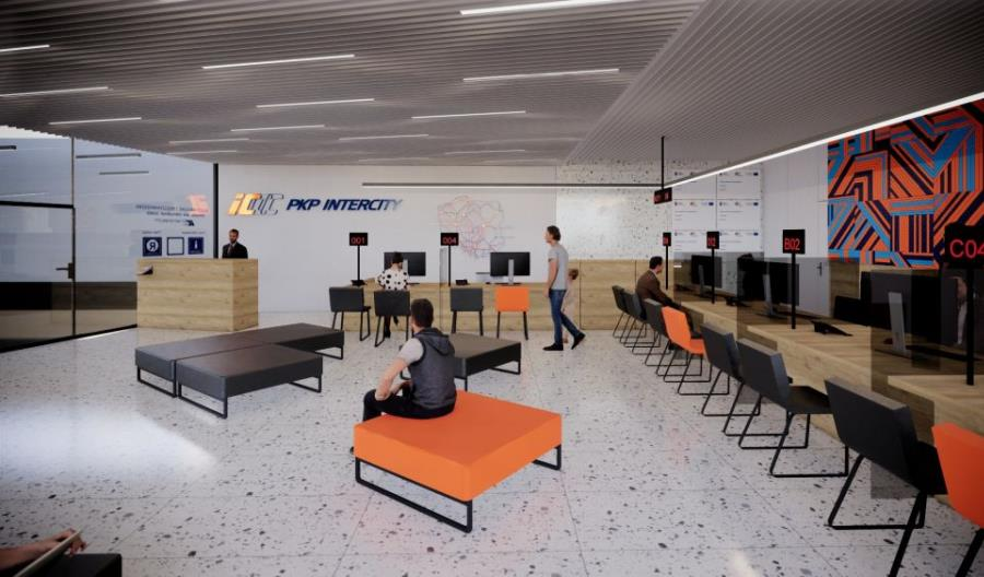 Ruszyła przebudowa Centrum Obsługi Klienta (COK) PKP Intercity na warszawskim Dworcu Centralnym