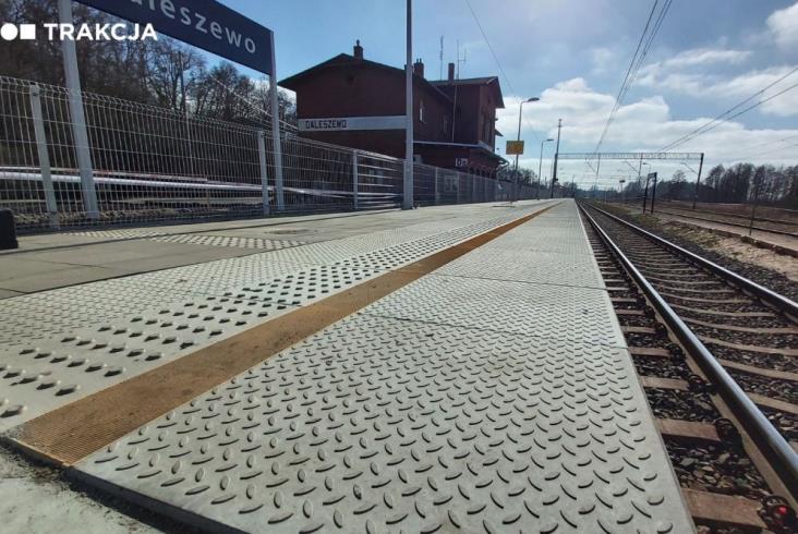 Szczecińska Kolej Metropolitalna: Nowe perony w Gryfinie i Daleszewie [zdjęcia]