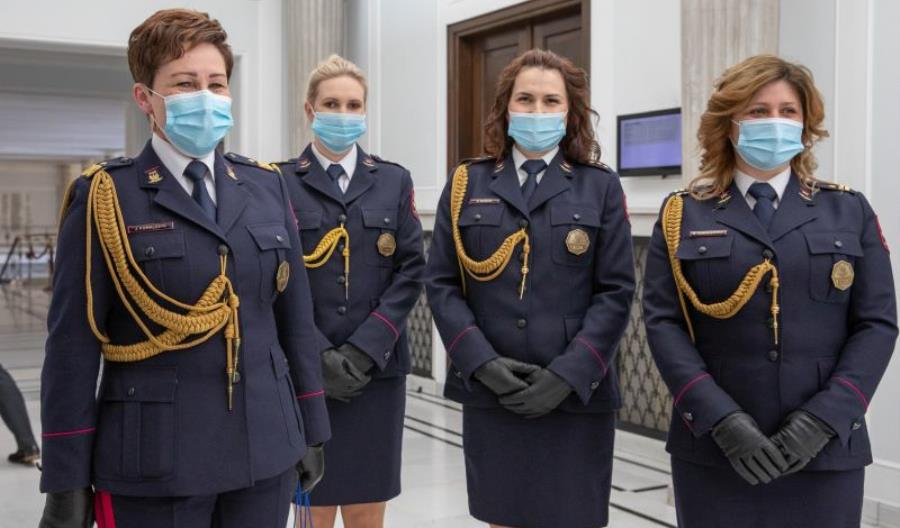 Wicemarszałek Sejmu spotkała się z Funkcjonariuszkami Straży Ochrony Kolei