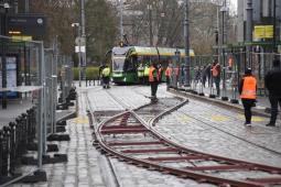 Poznań: Tramwaje pojechały po nowym łuku. Zmiany w centrum od 10 kwietnia [video]