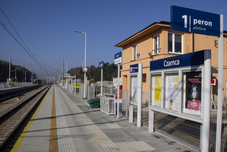 Nowe przystanki i tory na trasie Kielce - Częstochowa [zdjęcia]