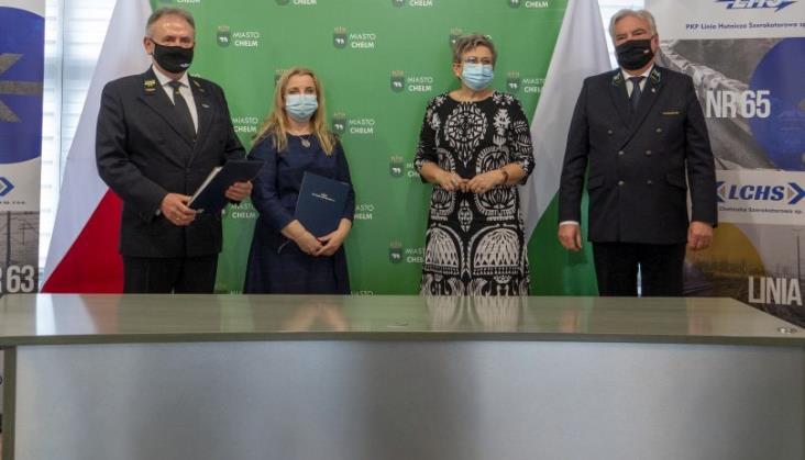 PKP LChS i PKP PLK podpisały list intencyjny z władzami Chełma