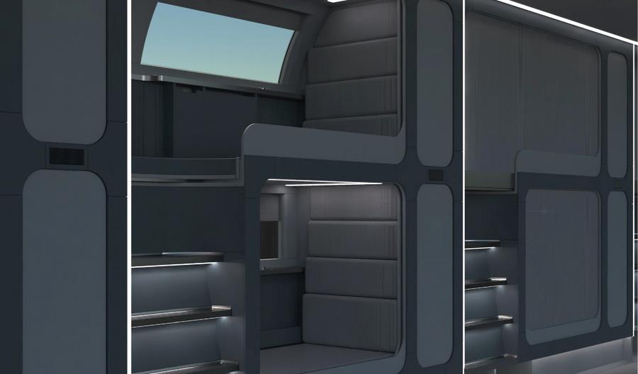 PKP Intercity i Pesa pokazują, jak mogą wyglądać wnętrza pociągów przyszłości [grafiki]