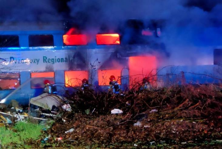 Kolejne pożary taboru w Lesznie [zdjęcia]