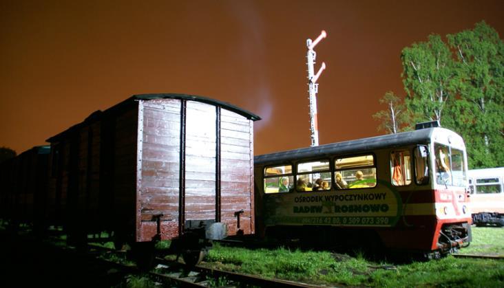 Noc muzeów w koszalińskiej wąskotorówce