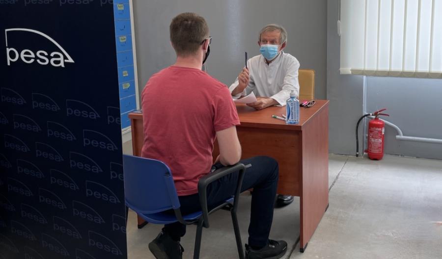Punkt szczepień przeciw COVID-19 w Pesie