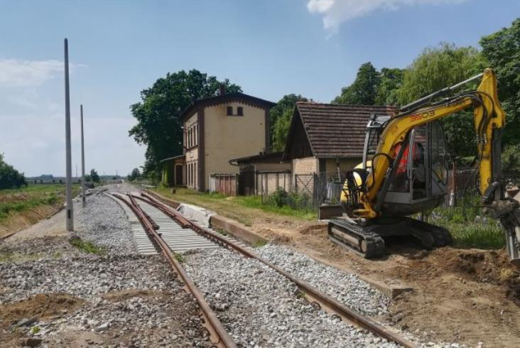 Trwają prace na linii do Sobótki i Świdnicy