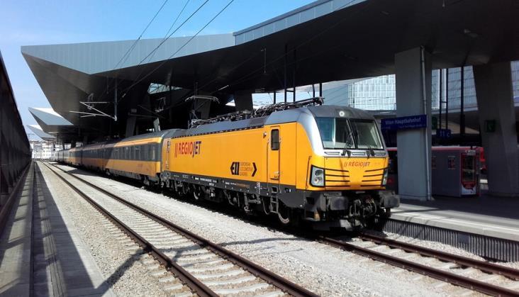 RegioJet zaczął jeździć na trasie Praga – Wiedeń – Budapeszt.