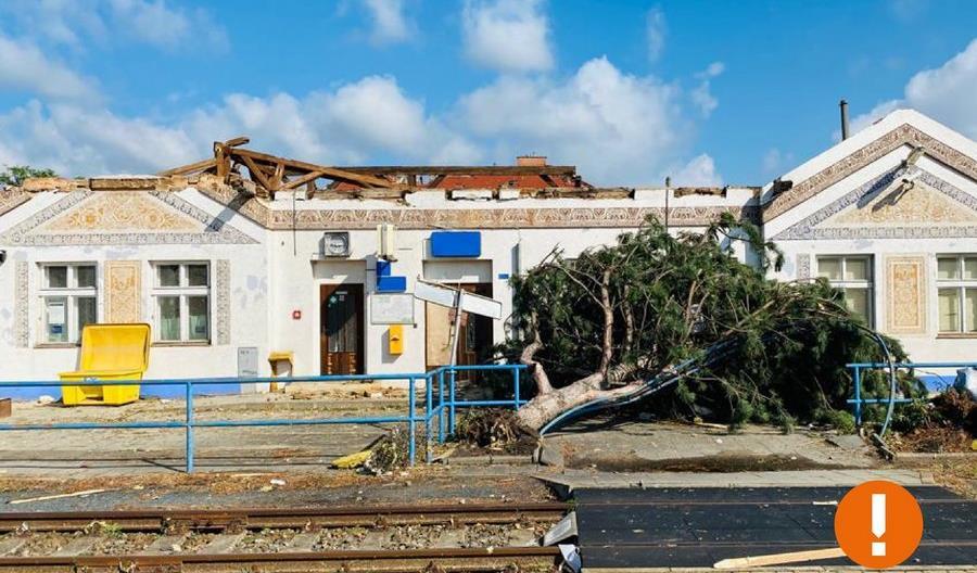 Potężne burze i tornada w Czechach. Zniszczone linie kolejowe, opóźnione pociągi