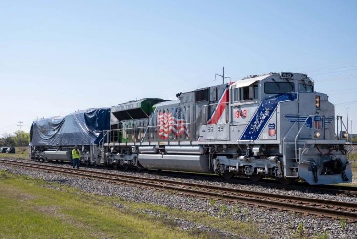 Pociąg pogrzebowy Union Pacific 4141 trafił do muzeum Busha