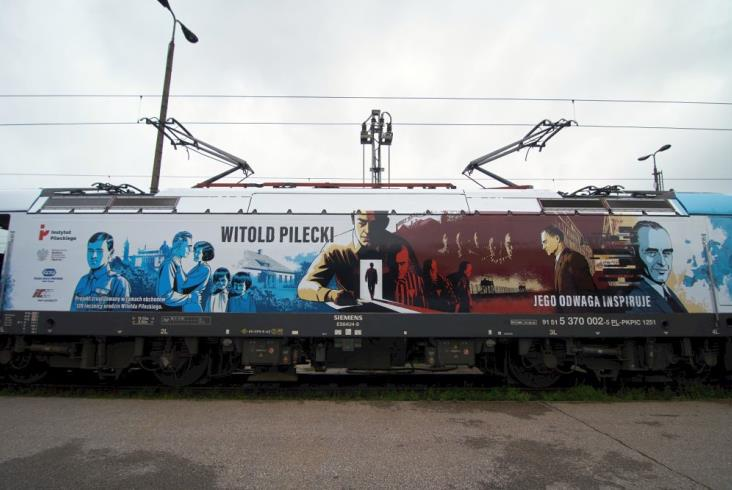Witold Pilecki upamiętniony na lokomotywie PKP Intercity [zdjęcia]