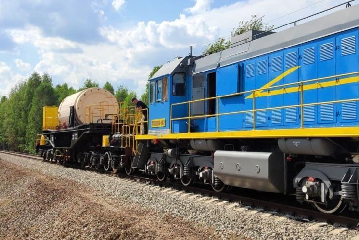 Odbudowa linii kolejowej do strefy czarnobylskiej zakończona w rekordowym tempie