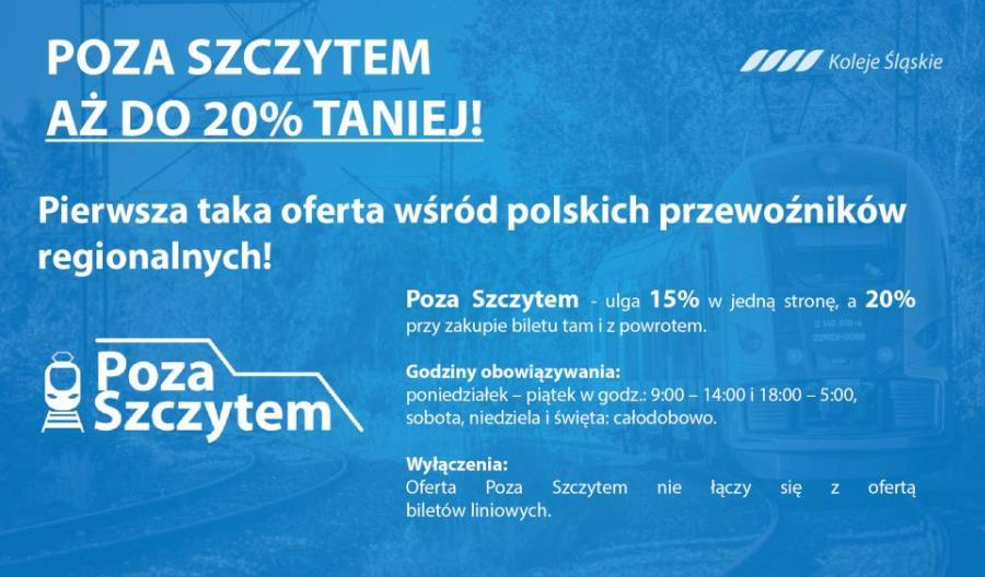 Nowe oferty biletowe Kolei Śląskich. Jest integracja z ZTM