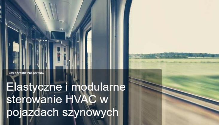 Elastyczne i modularne sterowanie HVAC w pojazdach szynowych