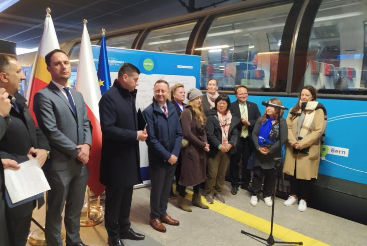 Connecting Europe Express w Krakowie. Kończy wizytę w Polsce