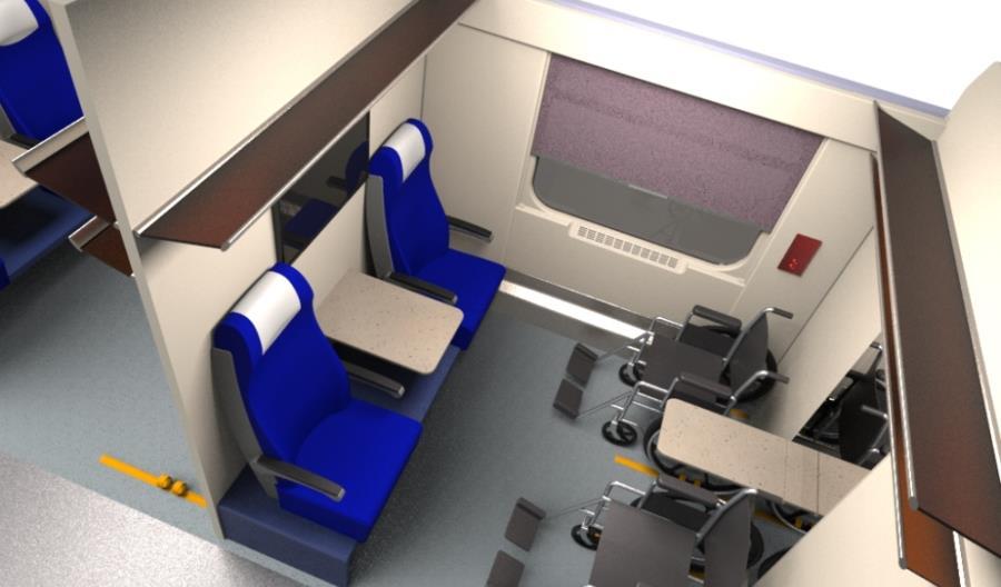 Wagony COMBO Intercity z nowymi wózkami i ciekawą przestrzenią